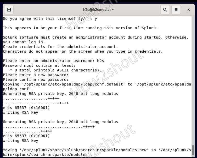Command to install Splunk on Debian 11