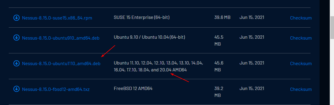 Download Nessus for Ubuntu 20.04 Linux.
