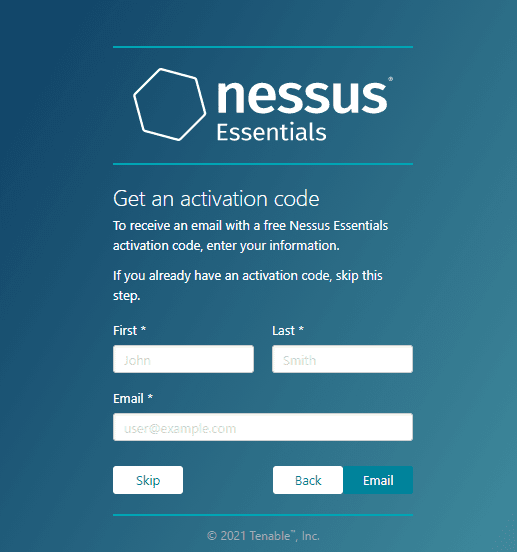 Get the NEssus activation code