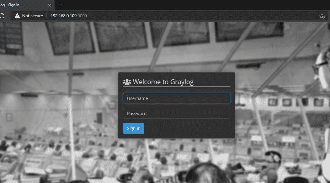 Graylog Web interface login on Ubuntu 20.04 lts server