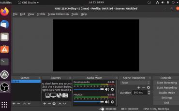 Install OBS Studio on Ubuntu 20.04 LTS