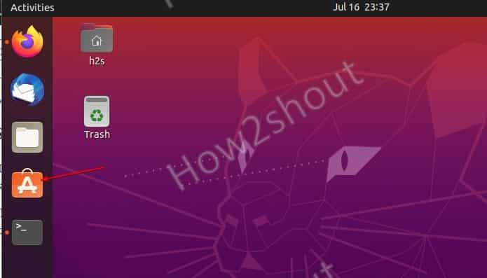 Open Ubuntu software center App
