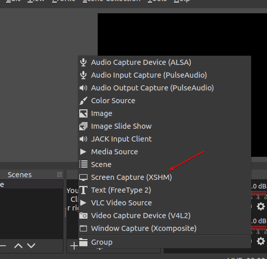Select Screen Capture option