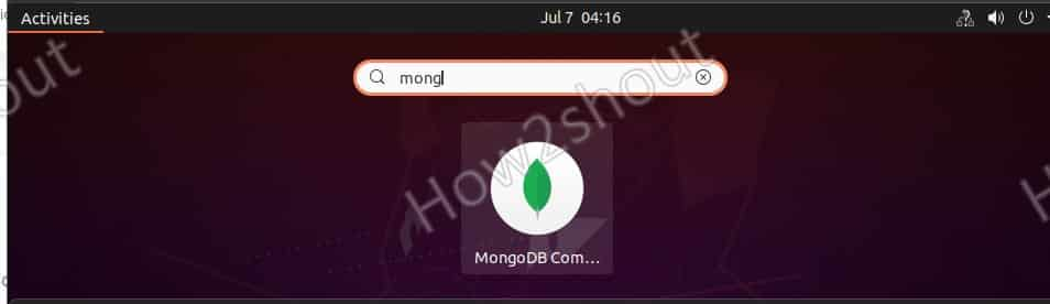 Start compass on Ubuntu 20.04 to access mongoDB
