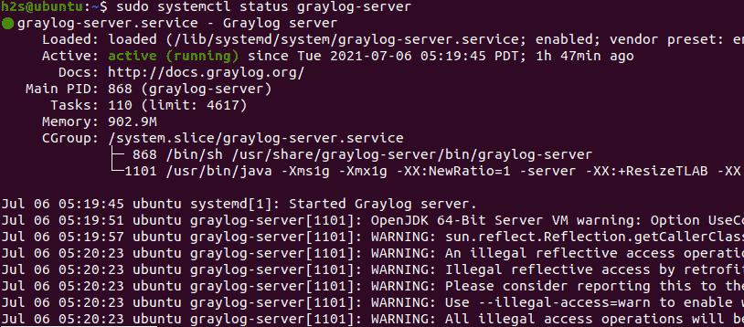 Start log server