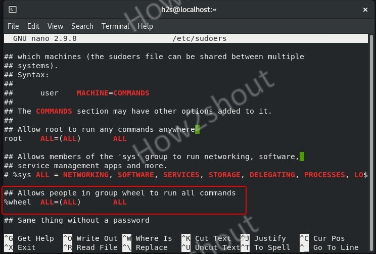 enable wheel group on AlmaLinux