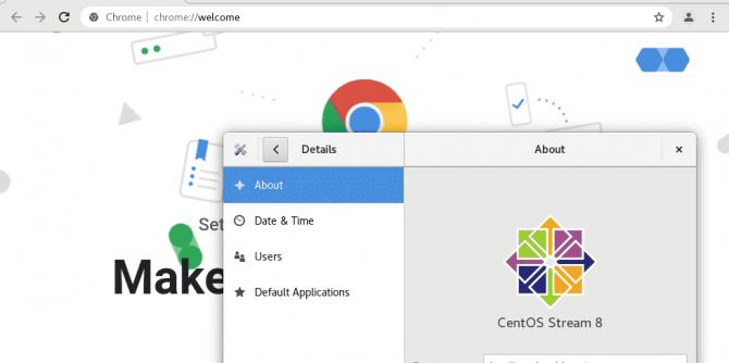 install Chrome browser on CentOS 7 or 8