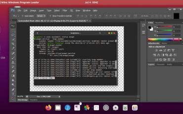 photoshop CS6 interface on Ubuntu 20.04