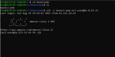 Connect AWS ec2 from Ubuntu