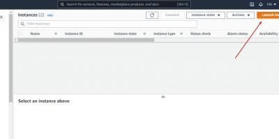 Create a new AWS ec2 Instance