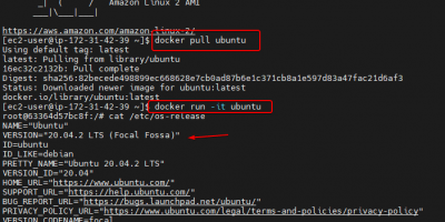 Create docker container on AWS EC2 Linux