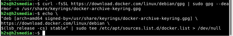 Docker Repository on Debian