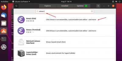 Get Emcas from Ubuntu software