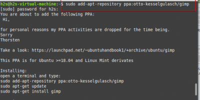 Install PPA on Linux Mint 20