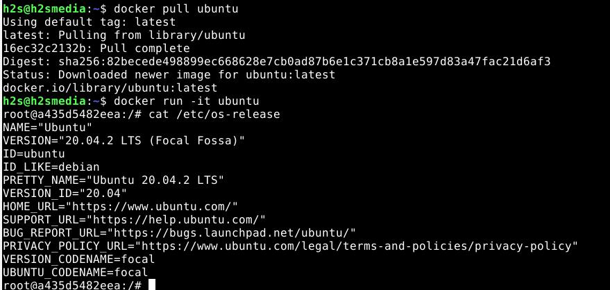 Pull Ubuntu Image to install on Docker