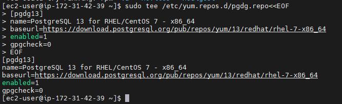 Add postgresql repository on Amazon Linux 2