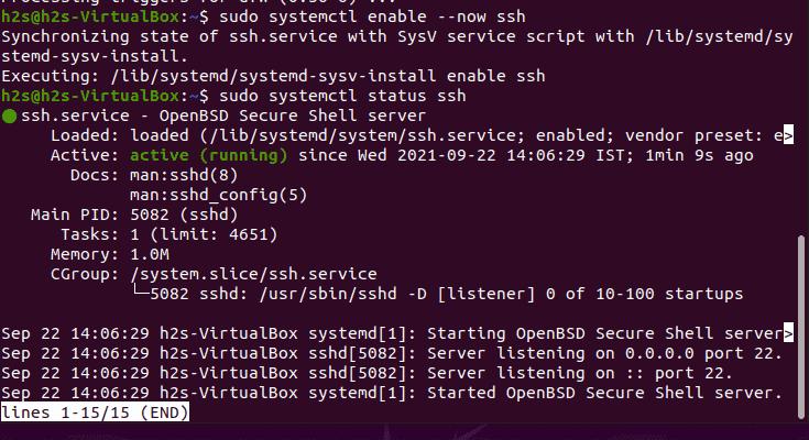 Check SSH server status on Ubuntu
