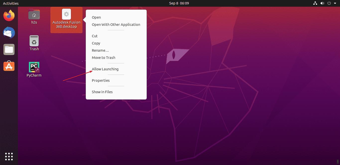 Fusion Desktop Shortcut for Ubuntu 20.04 LTS