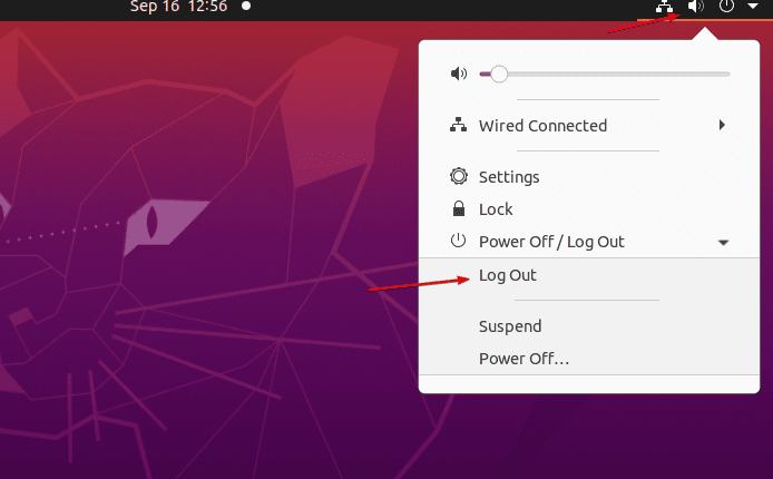 Log out Ubuntu or Debian system session