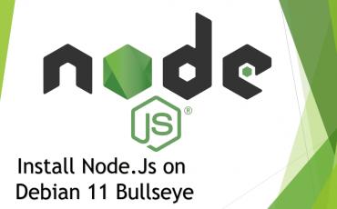 Node js Installation on Debian 11 Bullseye Linux