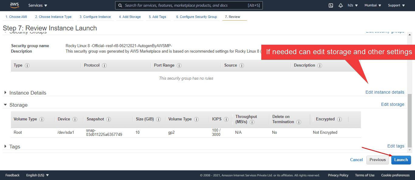 Review Rocky Linux Ec2 Instance