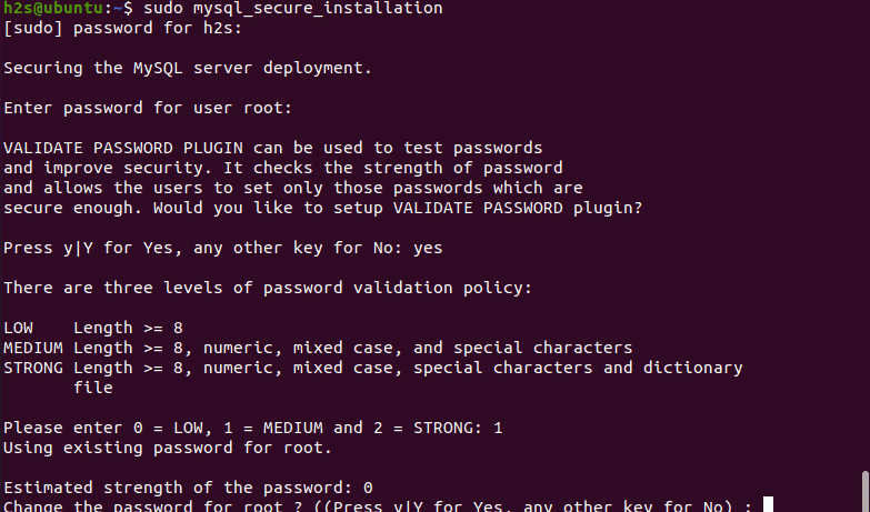 Secure my mysql installation