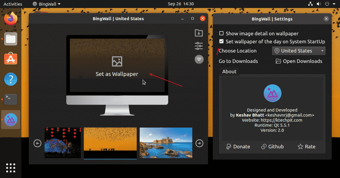 Set Bing Daily Wallpaper on Ubuntu Linux