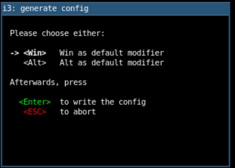 Set the default modifier
