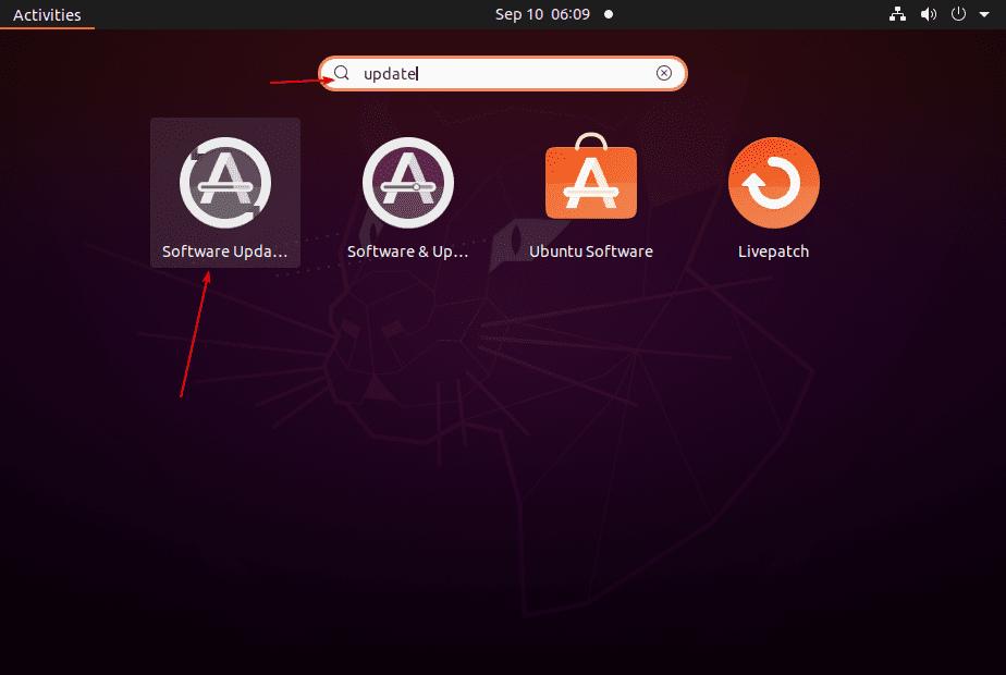 Software Update Ubuntu