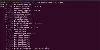 Systemd analyze blame command