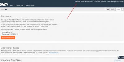 WHM Cpanel installation steps for Ubuntu 20.04 Linux