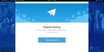 install Telegram app on Fedora Linux