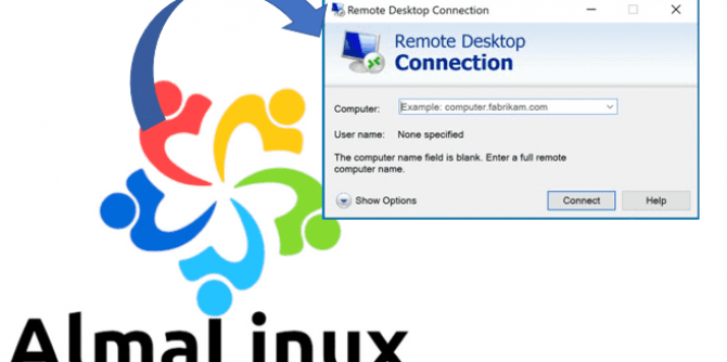 AlmaLinux remote desktop using windows RDP