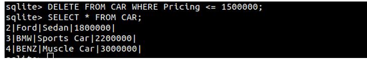 Delete Information from SQLite Database min