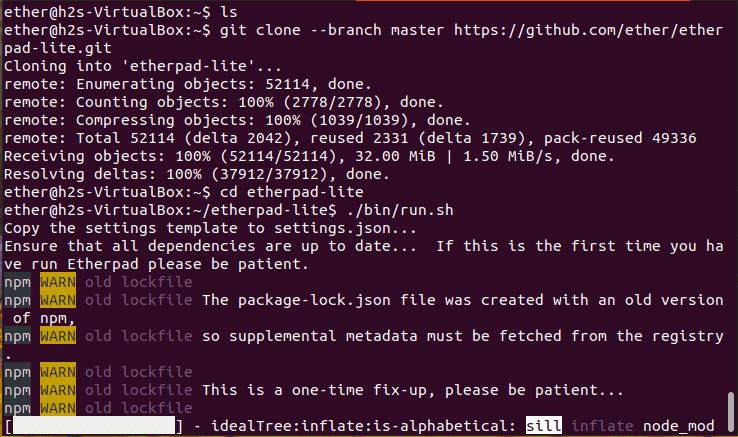 Install Etherpad on Ubuntu 20.04