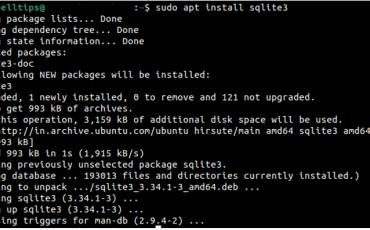Install SQLITE3 on Ubuntu 20.04 min