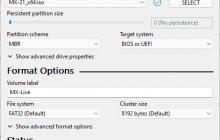 Make MX LInux 21 Bootable USB drive
