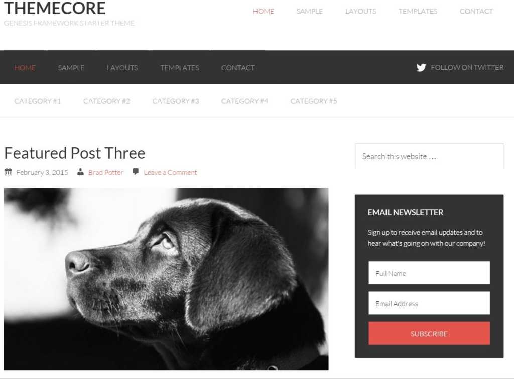Themecore-wordpress-Genesis child theme