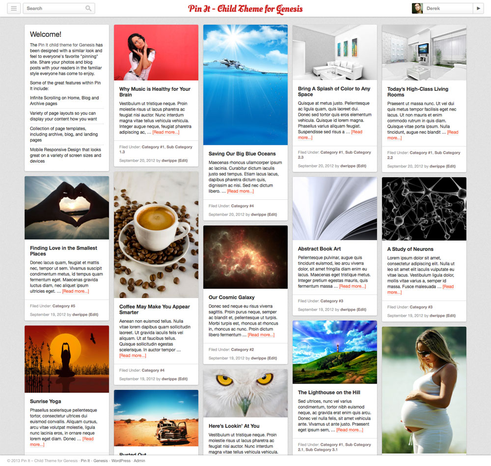 thesis child themes 2013 Thesis vs genesis – comparing premium wordpress themes or you can purchase skins for thesis or child themes for you can install the free sample child theme.