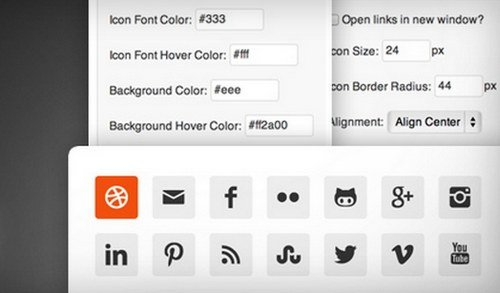 6 Free Social Media Icons Plugin for WordPress | H2S Media