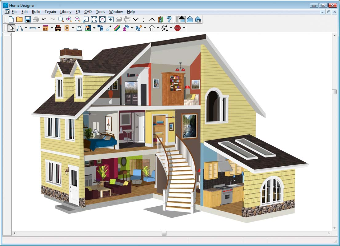 11 free and open source software for architecture or cad for Complete interior design of a house