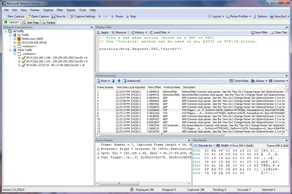 Microsoft Netwrok Monitor