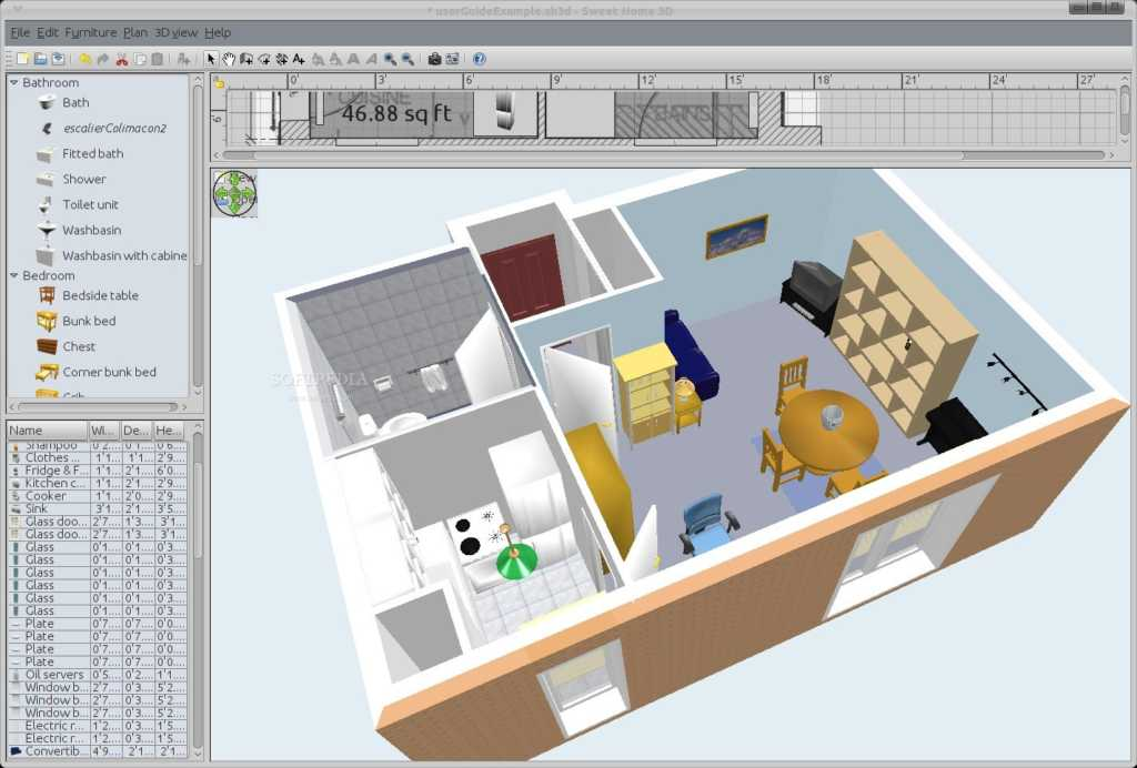 sweethome d is an opensource software it helps people to design their homes interior in a very intuitive way you can redesign your home and can see a with - Sweet Home 3d Maison A Etage
