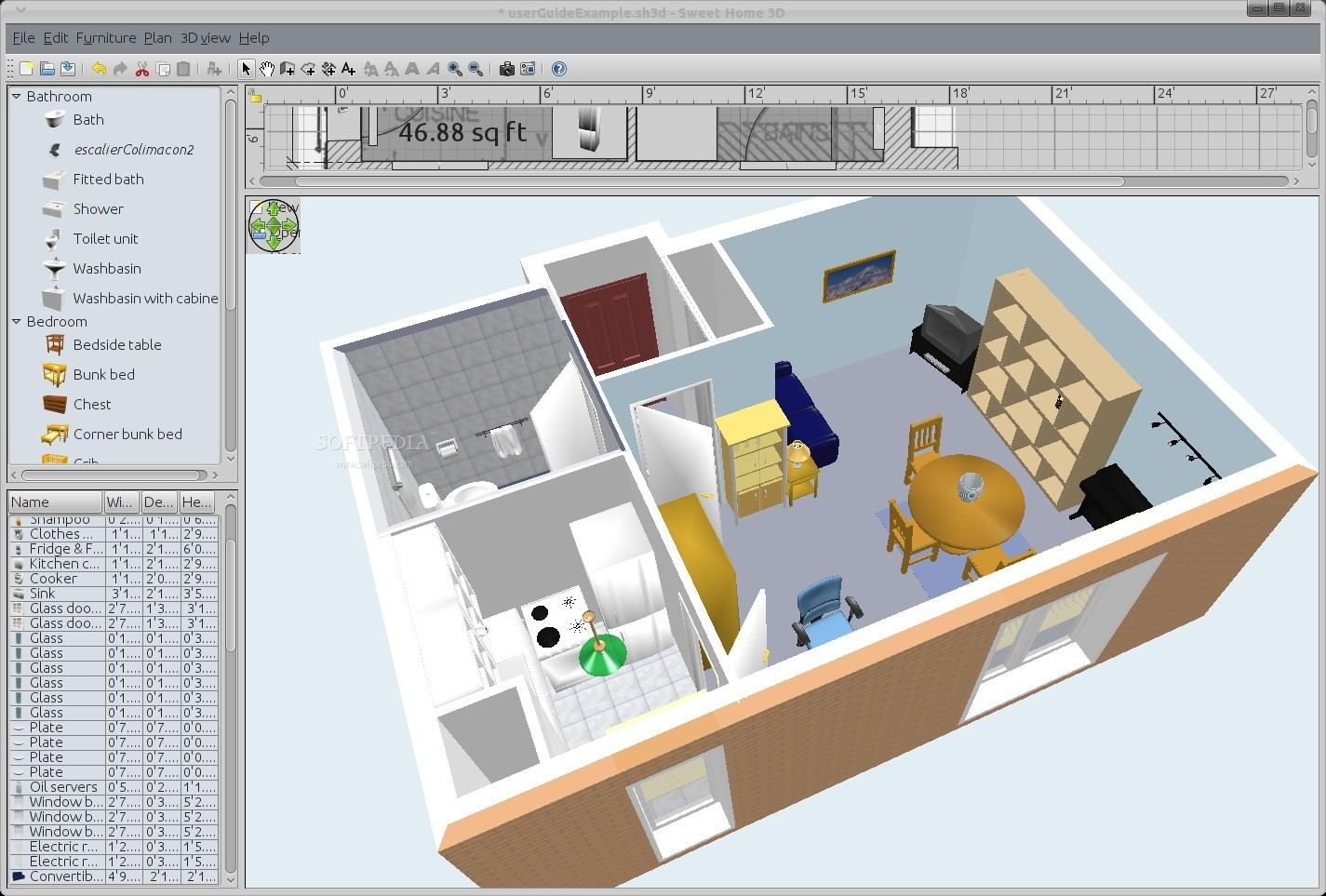 11 free and open source software for architecture or cad h2s media - D home designer ...