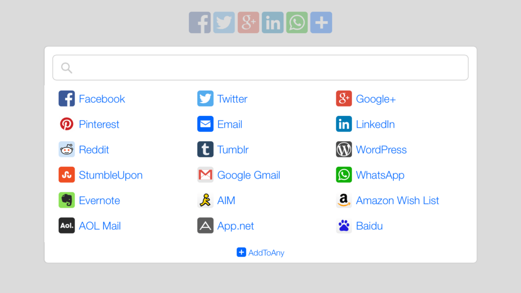 add-to-any social icons