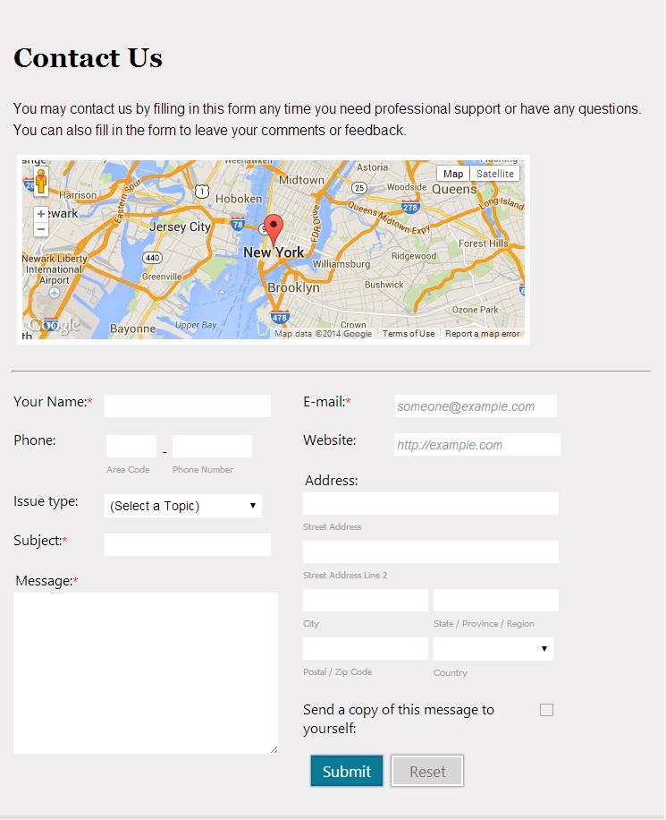 contact form google