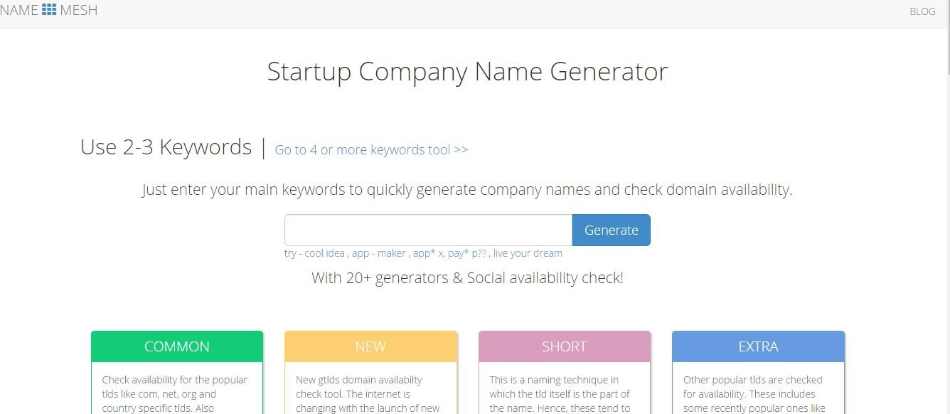 Companyname Generator: 5 Business Name Generator Fee Online For Your Business