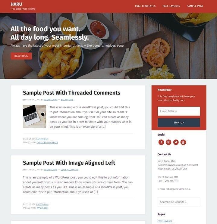HARU simple free theme for framework fo Genesis