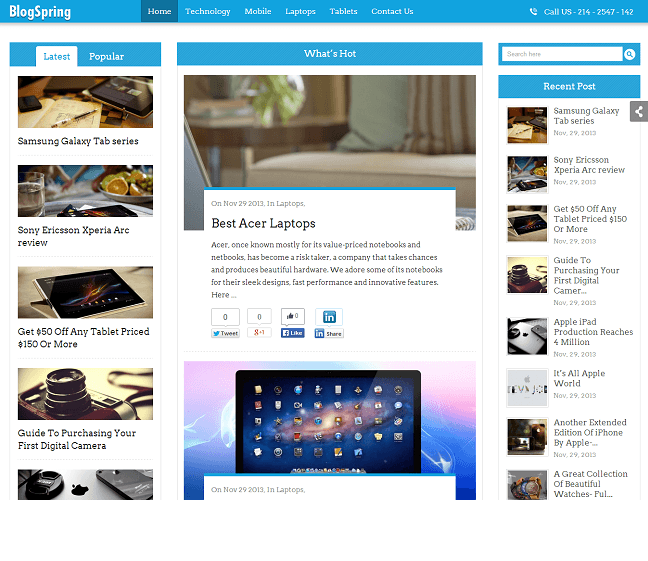 SEO optimized -news-of-blogspring-theme