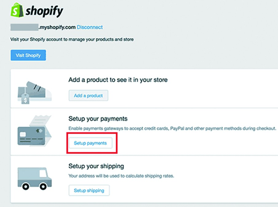 Payment option into WordPress Shopify eCommerce